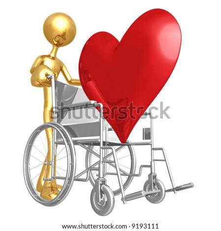 Heart Health Wheelchair - stock photo