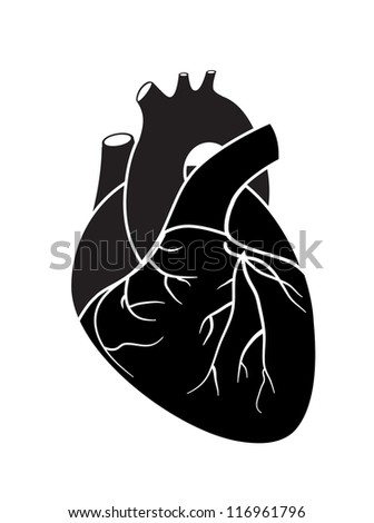 Heart icon. Vector version also available in my portfolio. - stock photo
