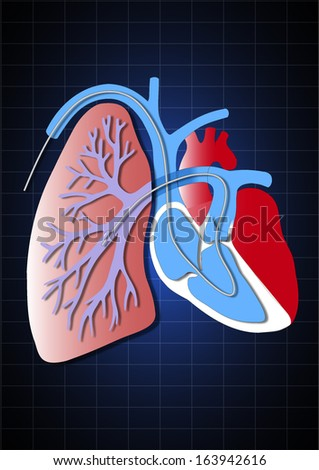 heart illustration formed by pieces     - stock photo