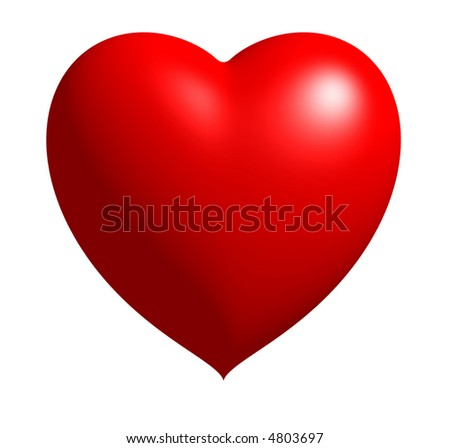Heart Image with Shiny Finish