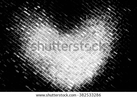 Heart in sequined embroidery texture closeup,Fashion design - stock photo
