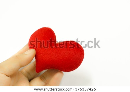 Heart in the hand, valentines day concept.