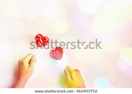 heart lollipop abstract colorful for background