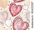 heart lovely seamless pattern in jpg - stock photo