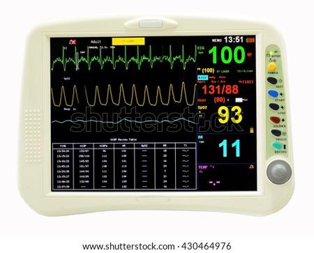 Heart monitor measuring vital signs - stock photo