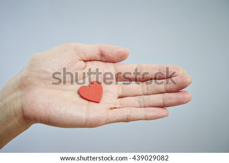 Heart object on hand