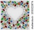 Heart of Diamonds around the precious stones - stock photo