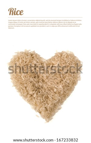 Heart of rice - stock photo