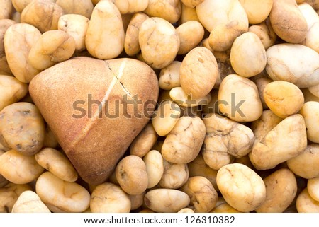 Heart of stone with other stones - stock photo