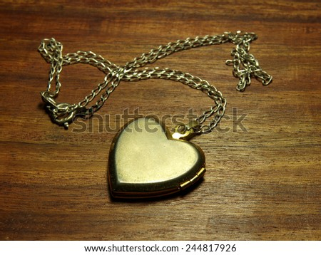 Heart on a collar   - stock photo