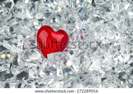 Heart on crystals - stock photo