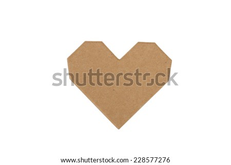 heart on the white background - stock photo