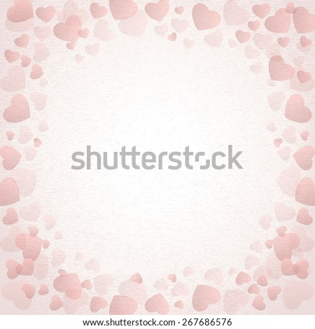 heart paper card - stock photo
