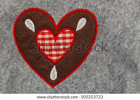 Heart Patchwork background