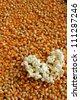 Heart  popcorn - stock