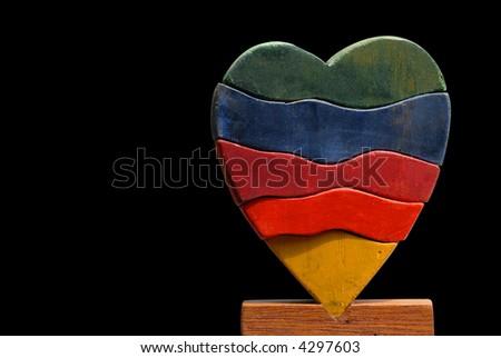 Heart puzzle - stock photo