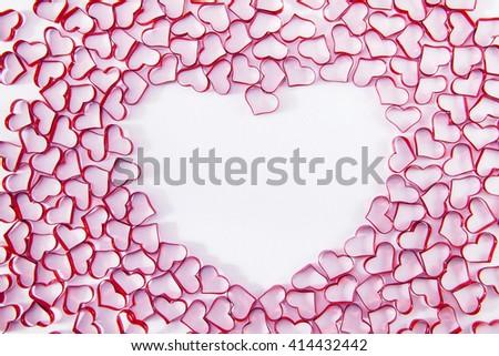 heart shape background - stock photo