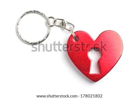 Heart shape charm isolated - stock photo