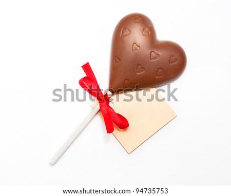 Heart shape chocolate - stock photo