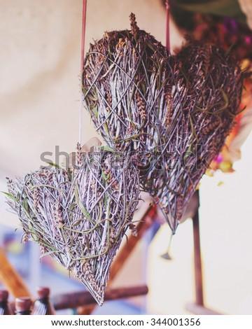 Heart shape decor - stock photo