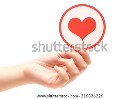 Heart shape in hands.