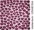 Heart shape pattern of leopard fur - stock photo