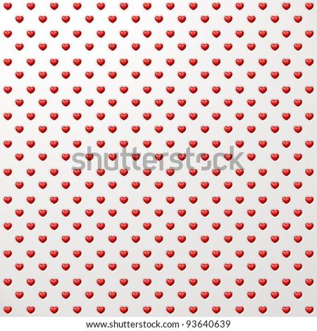 Heart shape polka dot background - stock photo