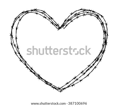 heart shape wire - stock photo