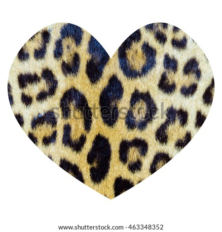 Heart shape with real tiger skin pattern