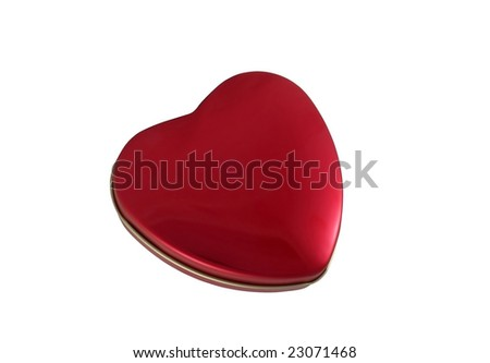 Heart-shaped box isolated on the white background. Clipping path.