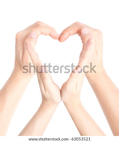 Heart shaped by hands - stock photo