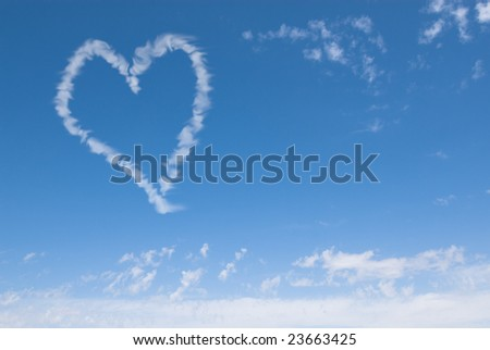 heart shaped cloud, perfect valentine's day background