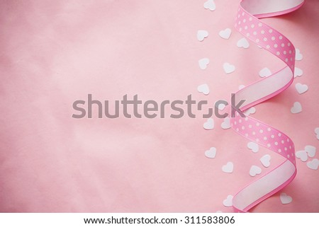 heart shaped confetti background