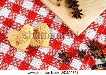 heart shaped cookies - stock photo