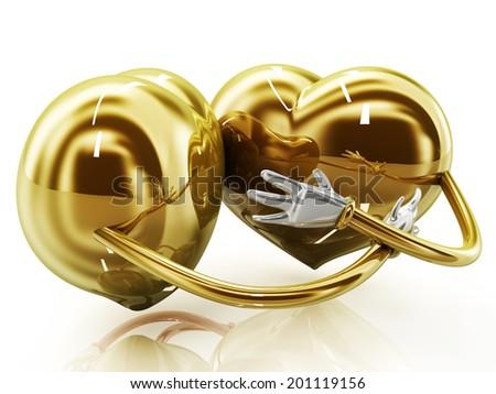Heart shaped couple - stock photo