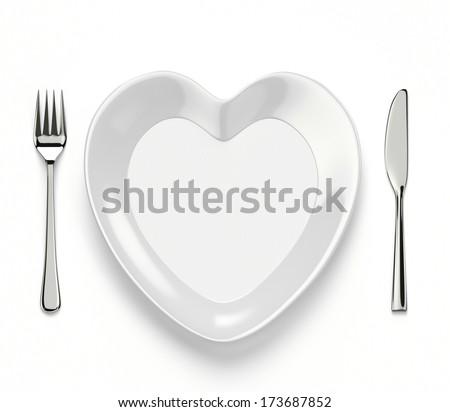 Heart shaped dish - stock photo