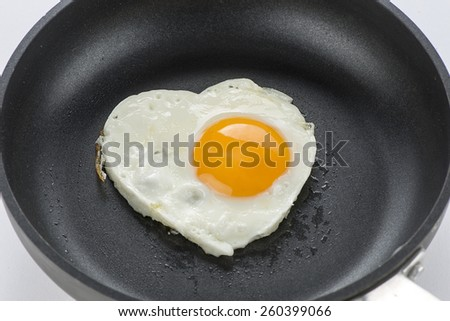 Heart Shaped Egg    - stock photo