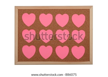 Stock images royalty free images vectors shutterstock for Heart shaped bulletin board