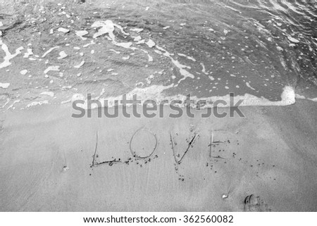 Heart sign on beach. Element of design.