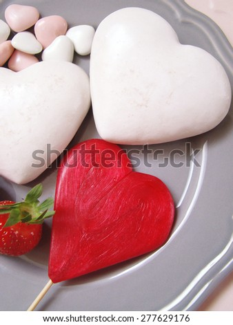 heart sweets, valentine heart, aphrodisiac - stock photo