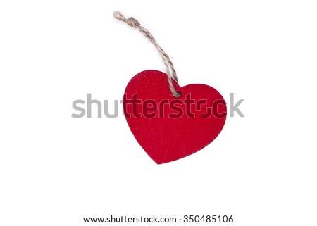 heart tag isolated - stock photo
