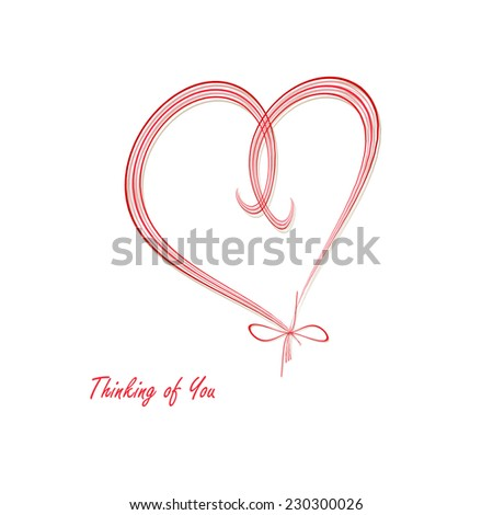 Heart - Think of You - stock photo