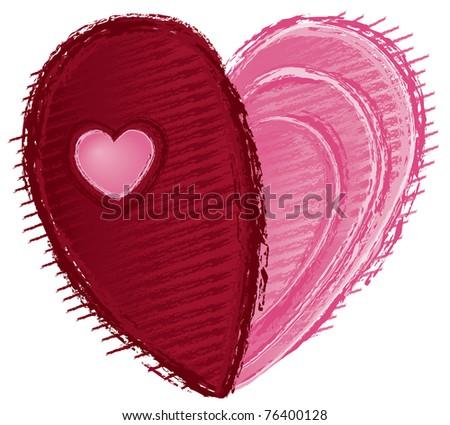 Heart to Heart - Raster Version - stock photo