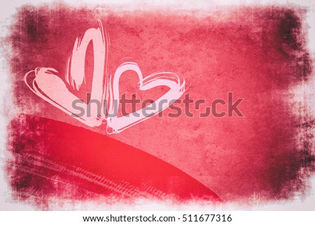 heart to tender grunge abstract background