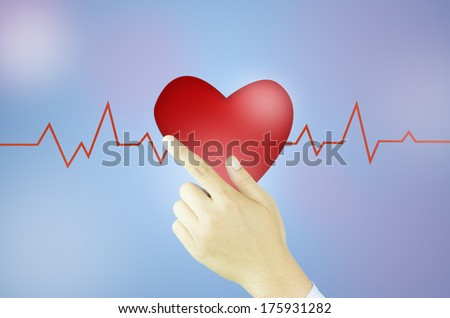 heart valentine with hand
