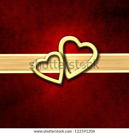 Heart Valentines Day background - stock photo