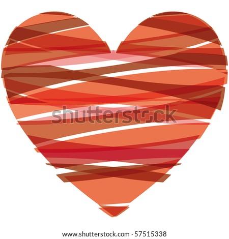 heart Vector Illustration icons symbols Valentine day - stock photo