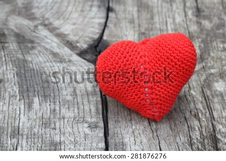 heart vintage background wooden - stock photo