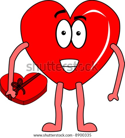 Heart With Box Of Chocolates Illustration