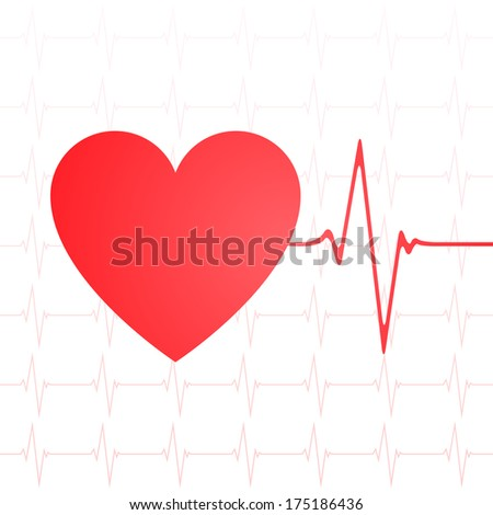 Heartbeat vector with heart